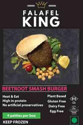 Beetroot sdmash burger